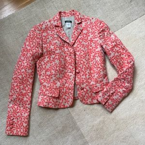 J.Crew 💕Blazer Floral Long Sleeve Linen Cotton 0